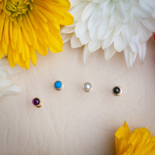 2mm Turquoise Cabochon Lip Tragus Nose Cartilage Flat Back Earring