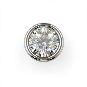 3mm Striking Diamond Flush Bezel Nose Ring Stud