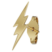 Yellow Gold Lightning Bolt 14k Gold Stud Earring
