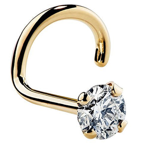 Diamond 14K Gold Nose Ring