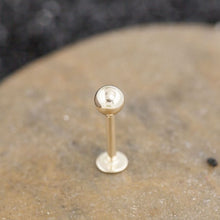 4mm Ball 14K Gold Flat Back Cartilage Earring Labret