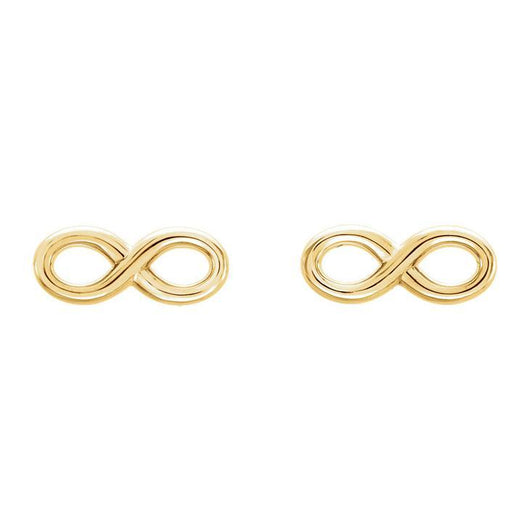 Infinity Symbol 14K Gold Earrings
