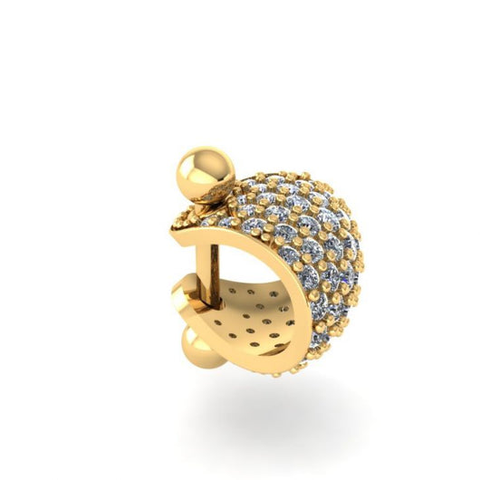 Diamond Pave 14K Gold Cartilage Earring Cuff