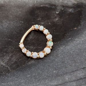 Imperial Opal 14K Gold Clicker Ring