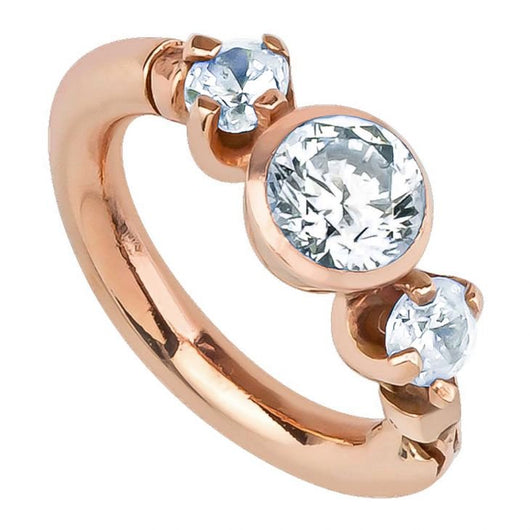 Tiny Engagement Ring 14K Gold Clicker Cartilage Earring