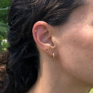 Triangle Bead 14K Gold Internal Cartilage Earring