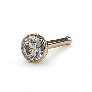 3mm Bold Diamond Flush Bezel Nose Ring Stud