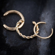 Twisted Band 14K Gold Ear Cuff