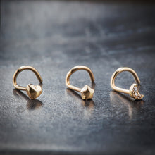 Puffy Star 14K Gold Nose Ring