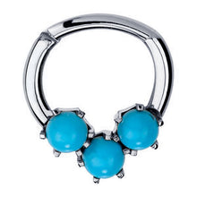 Turquoise Maya 14K Gold Clicker Ring