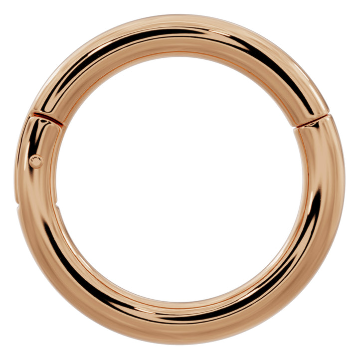 14k Gold Plain Clicker Ring Hoop