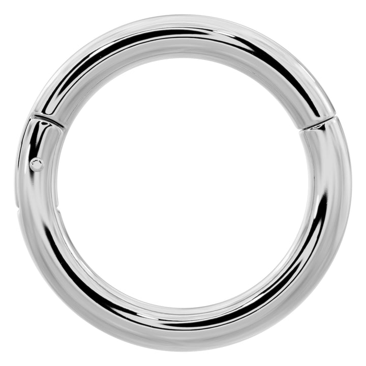 Platinum Plain Clicker Ring Hoop