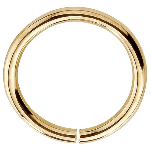 Seamless Ring Hoop 14K Gold or Platinum