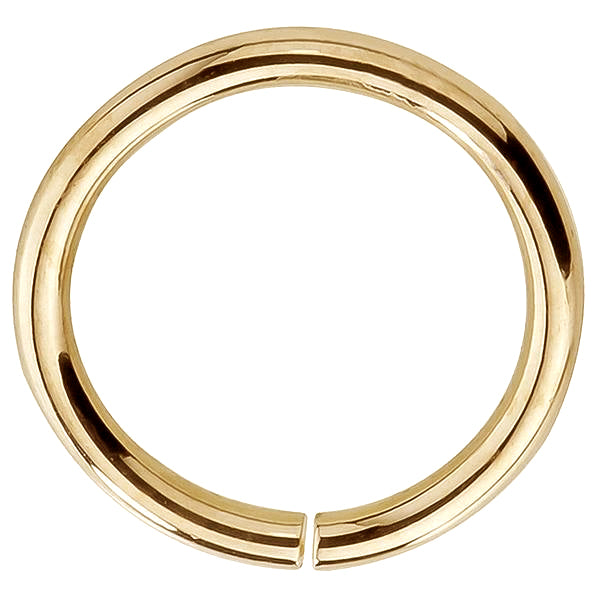 14K Gold Seamless Ring Hoop