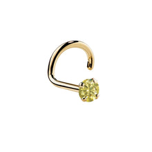 Yellow Diamond 14K Yellow Gold Nose Ring Twist