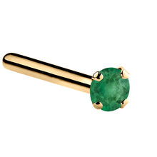 Genuine Emerald 14K Gold Nose Ring