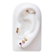 Pyramid Charm 14K Gold Cartilage Stud Earring