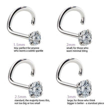 Diamond Size Details for Diamond Prong Nose Ring Stud