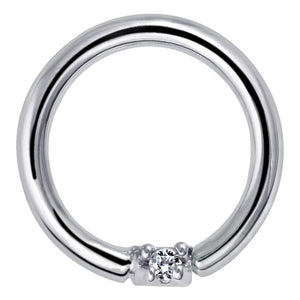 Diamond Seamless Ring Hoop 14K Gold or Platinum