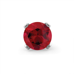 Genuine Ruby 14K Gold Nose Ring