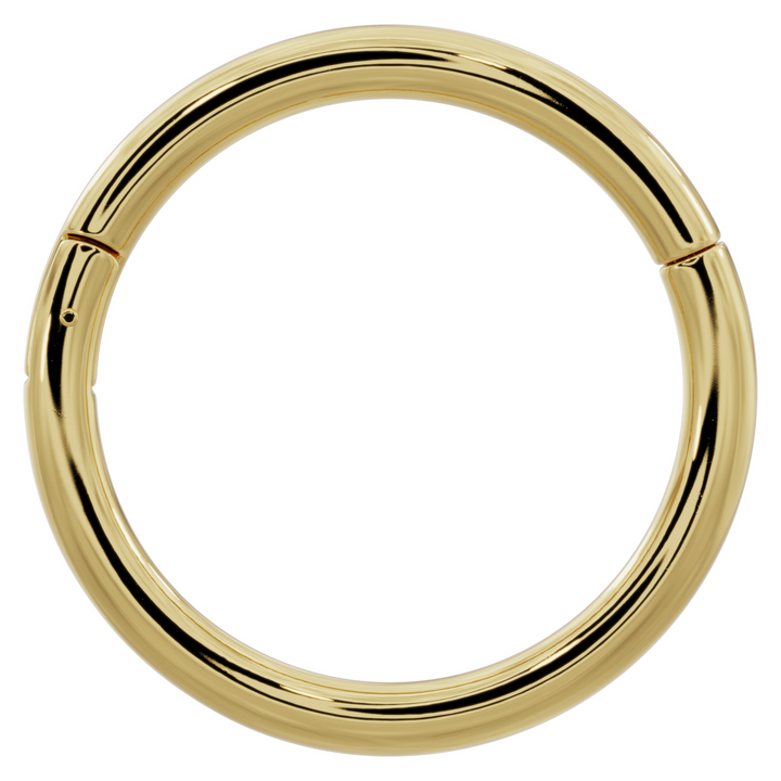 Yellow Gold - 14k Gold Plain Clicker Ring Hoop
