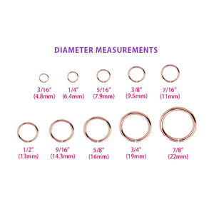 Diameter measurement chart