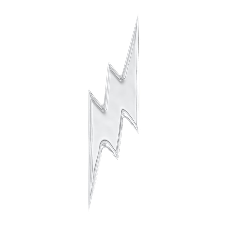 Lightning Bolt 14k Gold Stud Earring
