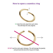 How to open a seamless ring correctly