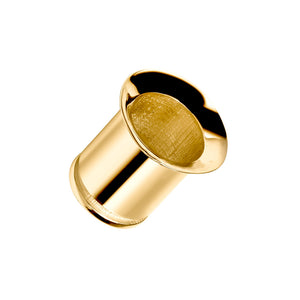 Single Flare Tunnel 14k Gold Plugs