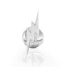 Front View - Tiny Lightning Bolt 14k Gold Flat Back Stud