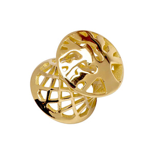 Tree of Life 14k Gold Tunnel Plugs