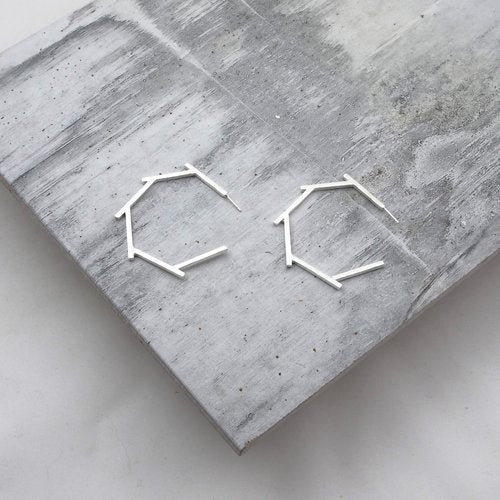 LM WHITE: Hex Earring