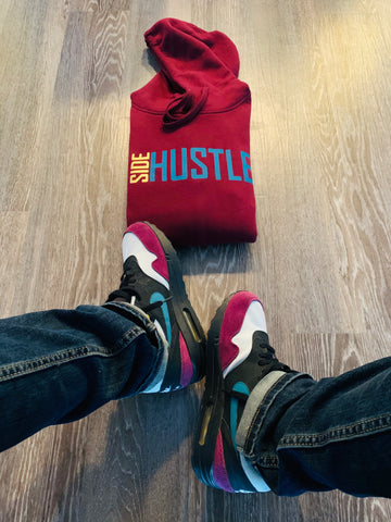 SIDE HUSTLE HOODIE (Custom Bordeaux Color Way)