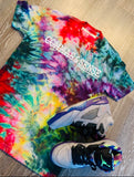 "COMMAS & SENSE CUSTOM ""TROPICAL SKITTLES"" TIE DYE"