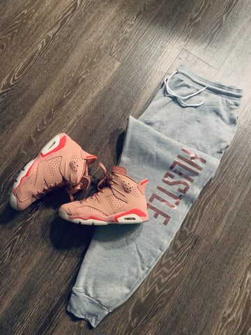 SIDE HUSTLE SWEATPANTS (Custom Rose Gold)