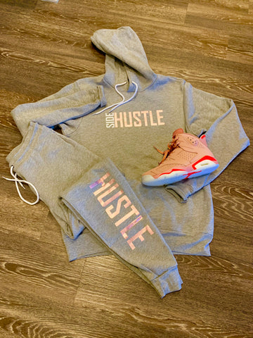 SIDE HUSTLE SWEATSUIT (Custom Rose Gold)