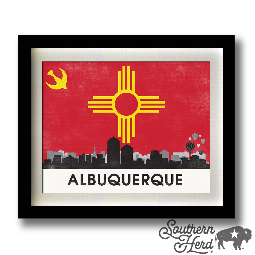 Albuquerque Skyline City Flag