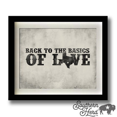 Back To The Basics Of Love