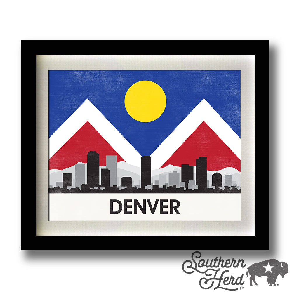 Denver Skyline City Flag