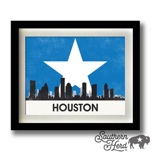 Houston Skyline City Flag