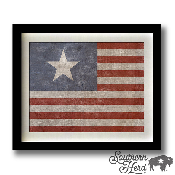 Lone Star And Stripes Flag