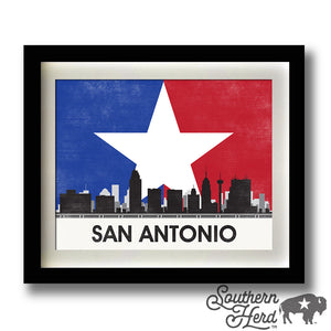 San Antonio Skyline City Flag