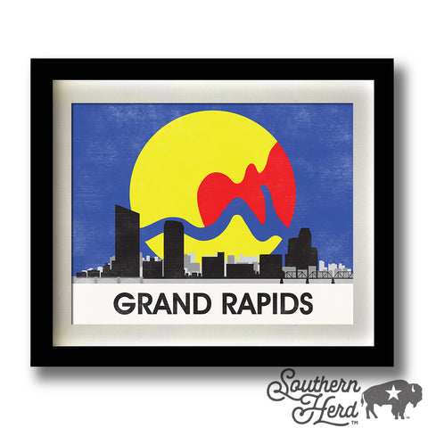 Grand Rapids Skyline City Flag