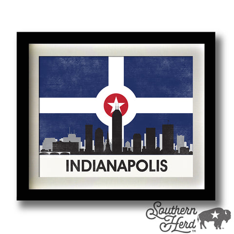 Indianapolis Skyline City Flag