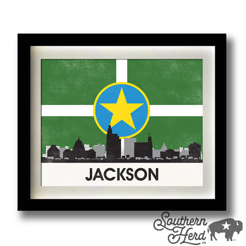 Jackson Skyline City Flag