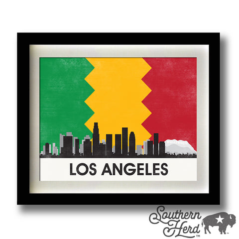 Los Angeles Skyline City Flag