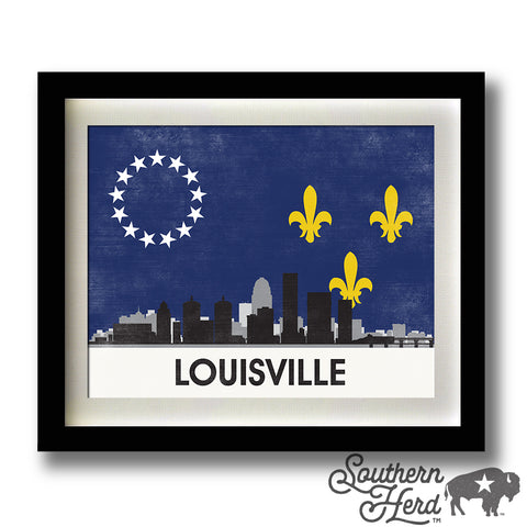 Louisville Skyline City Flag