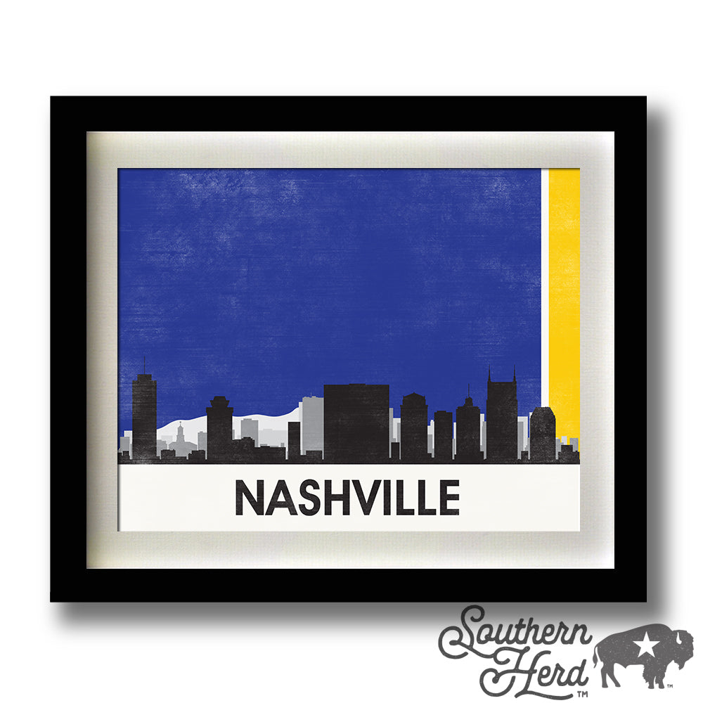 Nashville Skyline City Flag