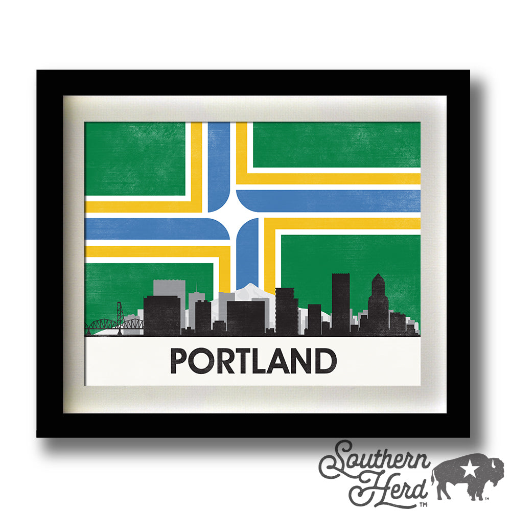 Portland Skyline City Flag
