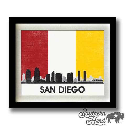 San Diego Skyline City Flag